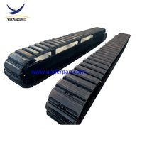 35 ton mobile crawler steel track undercarriage with rubber pads thumbnail image