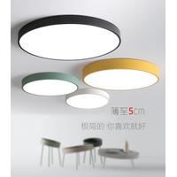 Led ceiling lamp Simple modern aisle lamp bedroom living room lamp Slim round macaron ceiling lamp thumbnail image