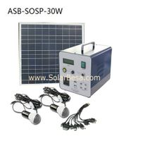 30w solar sysrem/solar power source/solar charger