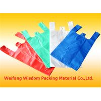 Plastic PE T-shirt bags For Shopping Or Garbage