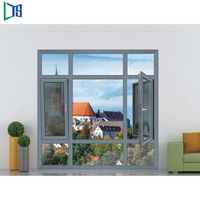 Popular residential house window made in china factory with blinds