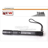 defensive LED Flashlight 3 Mode Lamp Outdoor Torch 7010