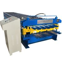 Double layer Steel Sheet Wall Panel tile making machine