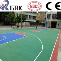 Basketball court floor SPU silicone polyurethane rubber flooring