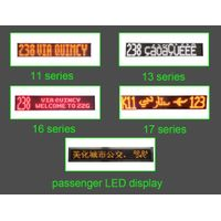 High brightness flexible SMD P13P14 outdoor led display panel for bus ,Scrolling destination sign b thumbnail image