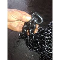 7mmx21mm black finish G80 alloy link chain for sale