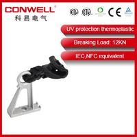 High tension aluminum suspension clamp / suspension clamp with bracket