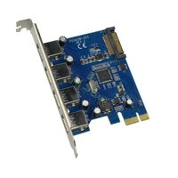 PCI Express 4 Port 5Gbps USB3.0 PCIe Card adapter PCIe to USB3.0 Converter
