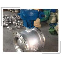 A351 CF8M Stainless Steel 316 flanged segment V type ball valve thumbnail image