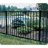 Simple wrought iron fence decorative garden fence