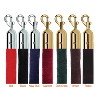 Barrier System of Velour Rope with Chrome Hook