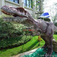 Amusement park fairground children's game kiddie ride dinosaur