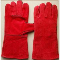 Yellow Leather Welding Gloves for Working
