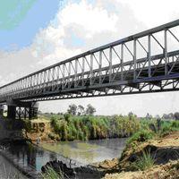 Elevation of delta bridge(bailey bridge)