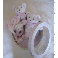 3 pieces baby bear baby toy ratlle gift set