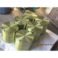 Forged Flat Plate Flange with Yellow Painting