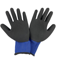 Latex Coated Industrial Safety Rubber Hand Protective Working Gloves