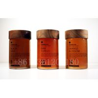 250g 500g cylinder glass honey mason jar with wooden screw cap