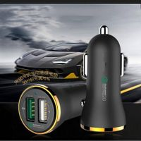 high quality new fashion 15W 3.4A Dual Dual USB Port Car Mobile Charger for iPhone