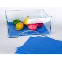 Elfin 18.5x11.8 Inches Kitchen Silicone Fridge Mat for Keeping Vegetables and Fruits Fresh(Blue)
