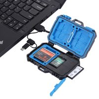 PULUZ Card Reader + 20 in 1 Memory Card Case for 3CF + 7SD + 9TF + 1CARD PIN