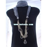 women pendant scarf