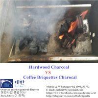Coffee briquette charcoal