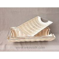 S/3 Rattan Serving Tray