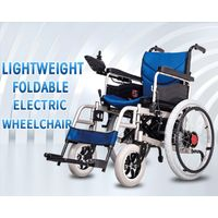 Cheapest outdoor handicapped wheelchair four wheel foldable electric wheelchair