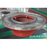Grinding roller and table for vertical coal mill
