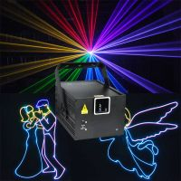2W Full Color Animation RGB Laser Light with Scanner