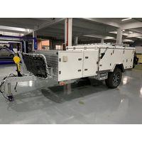 Forward folding & back pull camper trailer