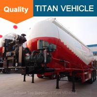 Titan Vehicle Cement Bulk Semi Trailer V Type Bulk Cement Semi Trailer