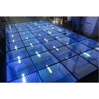 18ft by 18ft 3D mirror dance floor for wedding stage show thumbnail image