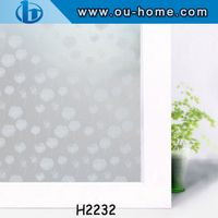 Color stained PVC static window film plastic glass film
