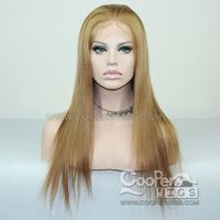 Cooper Wigs Mix Color Human Hair Wig Brazilian Virgin Remy Hair Lace Front Wigs Preplucked