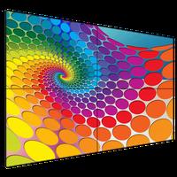 4K HD ultra-narrow bezel LCD TV screen advertising wall thumbnail image