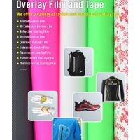 Decorative overlay film for outdoor apparel ski jacket