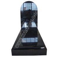 KYRSTONE Poland Style Shanxi Black Granite Monument Tombstone
