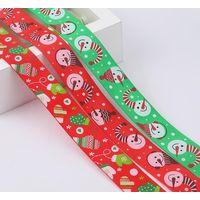 new design Christmas 100% polyester grosgrain ribbon thumbnail image