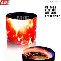 China factory P4 P6 no gap cylinder LED screen