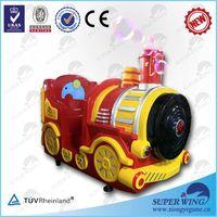 Happy train with blowing bubbles electric mini train ride