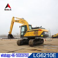 SDLG 21T hydraulic crawler hydraulic excavator LG6210E for sale,mew model E6210F 2018 made