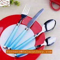 Personalized Picnic Decorative Turkish Plastic Handle Cutlery