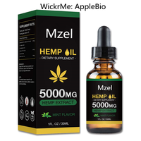 cosmetic Organic Hemp Seed Oil 1000mg 5000mg 1000mg wickr:applebio