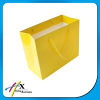 2014 high quality New Luxury Shopping Paper Bag for Cloth
