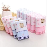 25 50cm high quality cotton towel for baby bear cartoon cloth napkin for baby children towel cloth