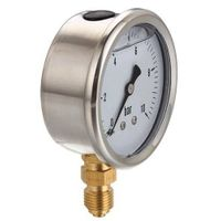 stainless steel case normal use liquid filled gauge