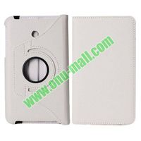 360 Rotating Lichee Texture Flip Leather Case for Asus Fonepad 7 FE7010CG with Belt (White)