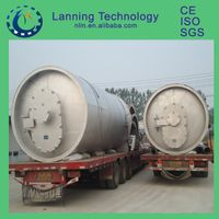 China Made high quality waste tyre pyrolysis plant